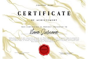 Template design of the certificate.