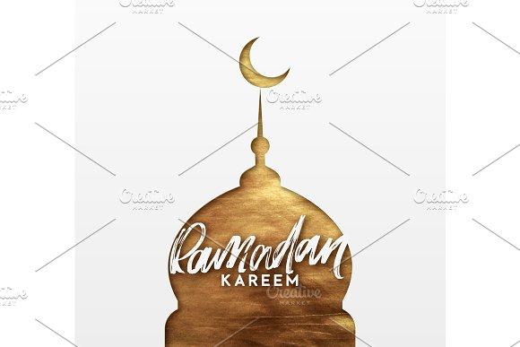 Ramadan Greeting Card With Calligraphy Ramadan Kareem