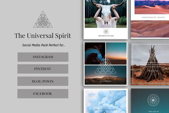 Universal Spirit Social Media Pack