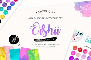 Oishii Watercolor for Illustrator