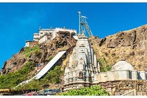 Kalika Mata Temple at the summit of Pavagadh Hill and Suparshvanath Old Digamber Temple - Gujarat, India