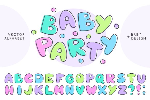 Baby Alphabet And Lettering