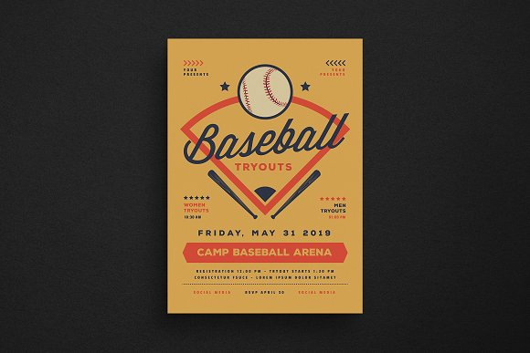 Baseball Tryouts Flyer