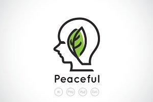 Green Mind Logo Template