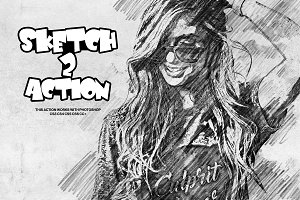 Sketch Photoshop Action 2