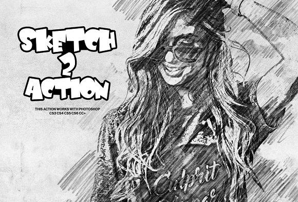Sketch Photoshop Action 2
