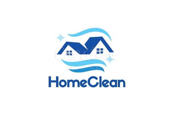 Home Cleaning Blue Logo