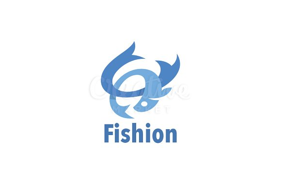 Abstract Fish Logo