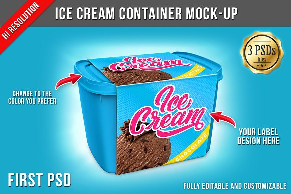Download Ice Cream Container Mock-up