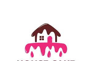 House cake logo template