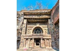 Entrance to Cave 26 at Ajanta. Maharashtra - India