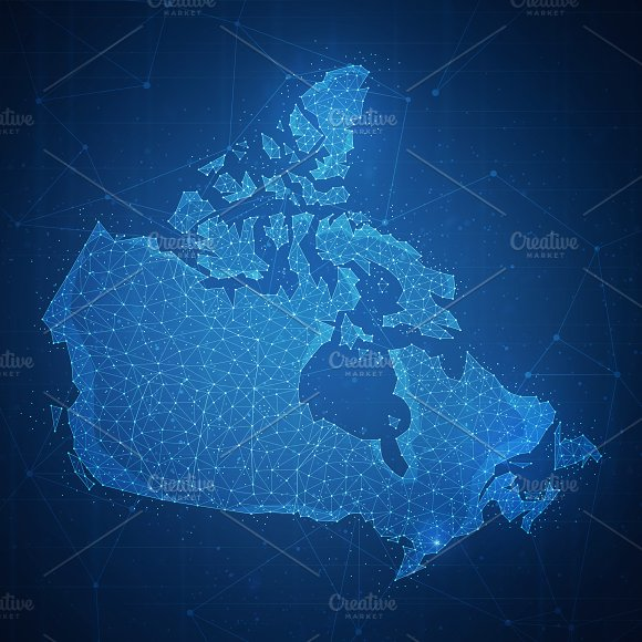 Polygon Canada Map On Blockchain Hud Banner