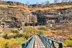 Bridge above the Waghur River at the Ajanta Caves. Maharashtra, India