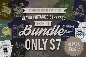 Retro Vintage Designs 10 Pack Vol 1
