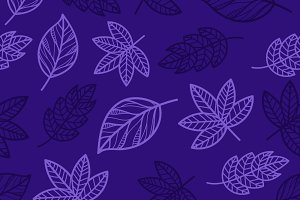 floral autumn seamless pattern