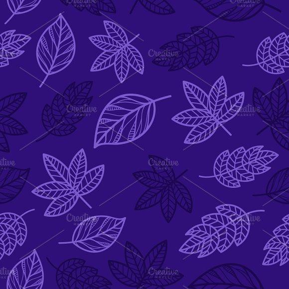 Floral Autumn Seamless Pattern