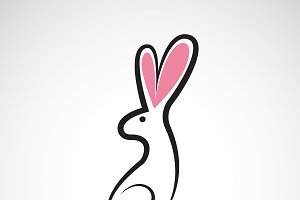 Vector of cute easter bunny.