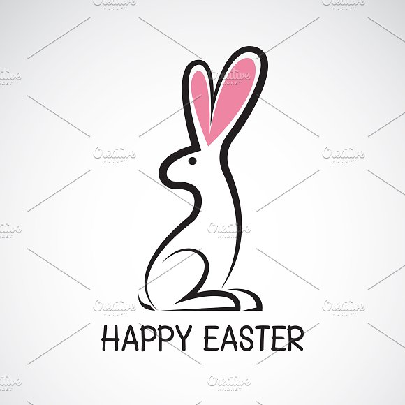 Vector Of Cute Easter Bunny