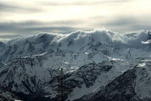 Elbrus in the snow