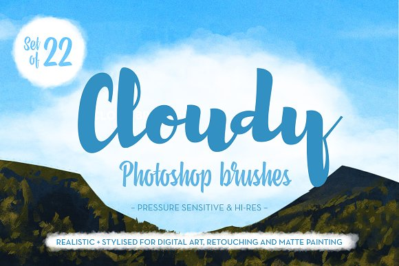 Matt's Photoshop Cloud Brush Set