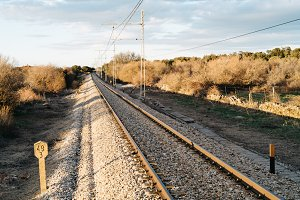 Railroad tracks in countryside