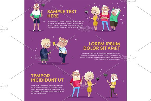 Design Of People Using Gadgets In Poster