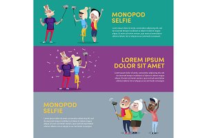 Creative poster for people using monopod