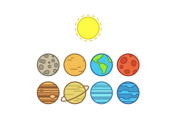 Image result for solar system icon