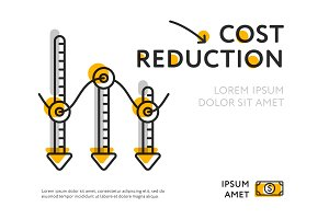 Infographic poster for cost reduction image