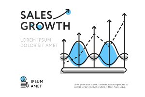 Simple design of representing sales increase