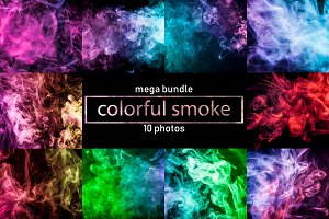 Colorful smoke on a black background
