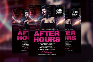 After Hours Flyer Template