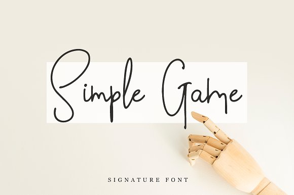 Simple Game in Script Fonts