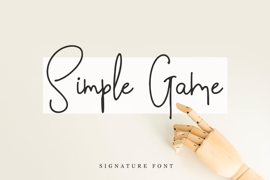 Simple Game in Script Fonts - product preview 8
