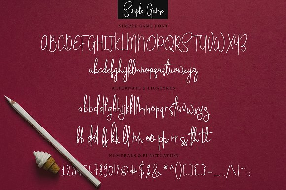 Simple Game in Script Fonts - product preview 5