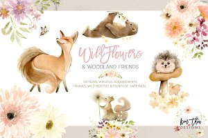 Wildflowers and Woodland Friends