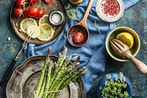 Asparagus cooking preparation