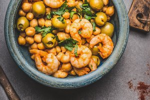Bowl with Chickpea salad