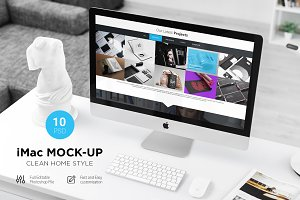 iMac Mock-Up (10 PSD) Clean Style