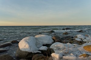 Beautiful Baltic sea in winter time