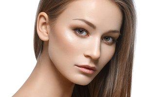 beautiful girl with natural makeup
