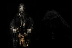 man in the gas mask