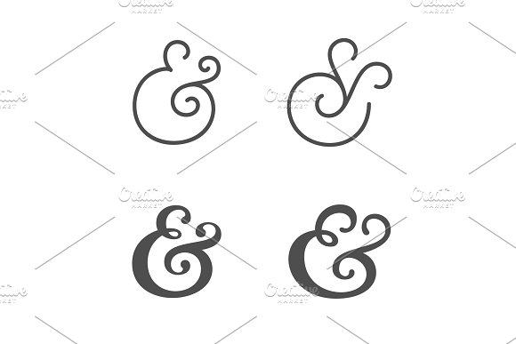 Ampersands Vector Illustration