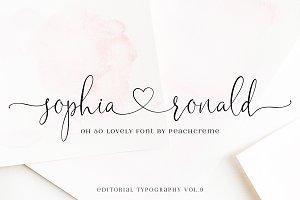 Sophia Ronald // Lovely Script Font