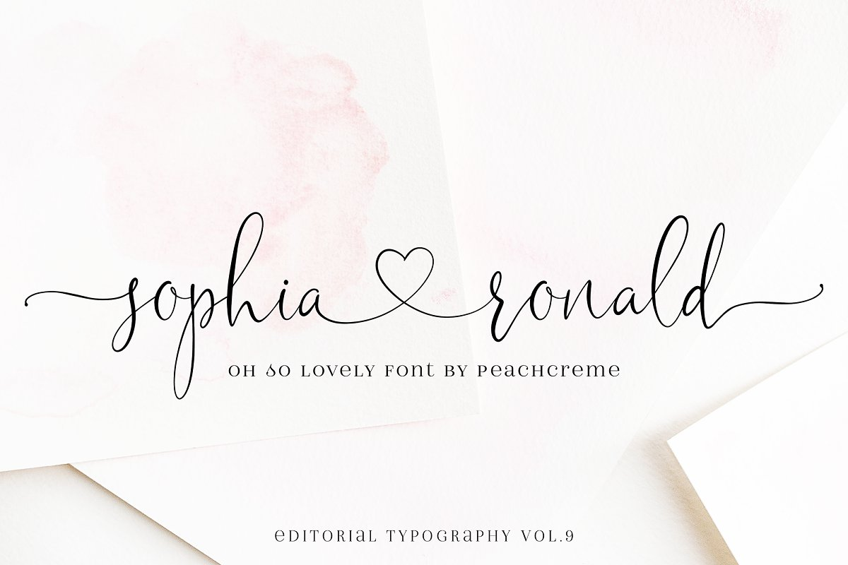 Sophia Ronald // Lovely Script Font in Script Fonts - product preview 8