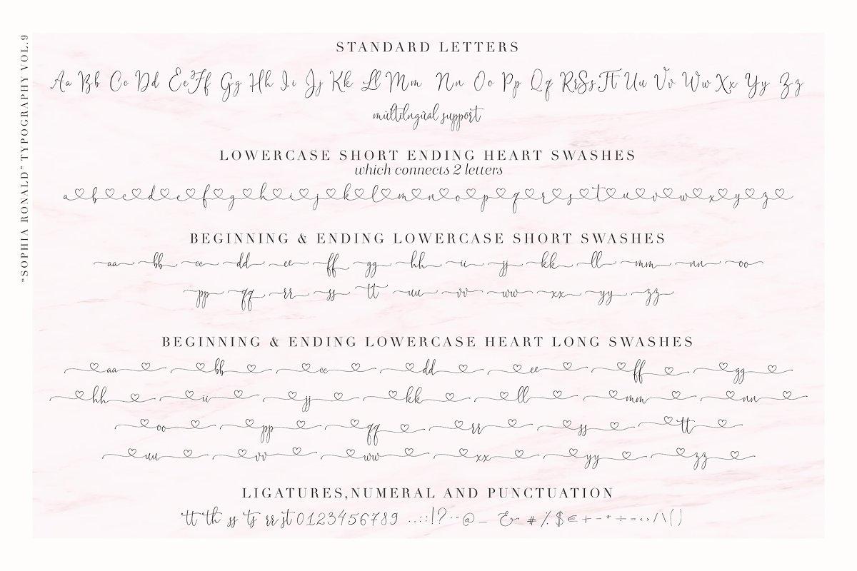 Sophia Ronald // Lovely Script Font in Script Fonts - product preview 2