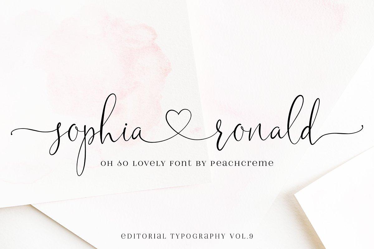 Sophia Ronald // Lovely Script Font  in Script Fonts