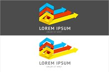 Vector. Abstract logo  colorful