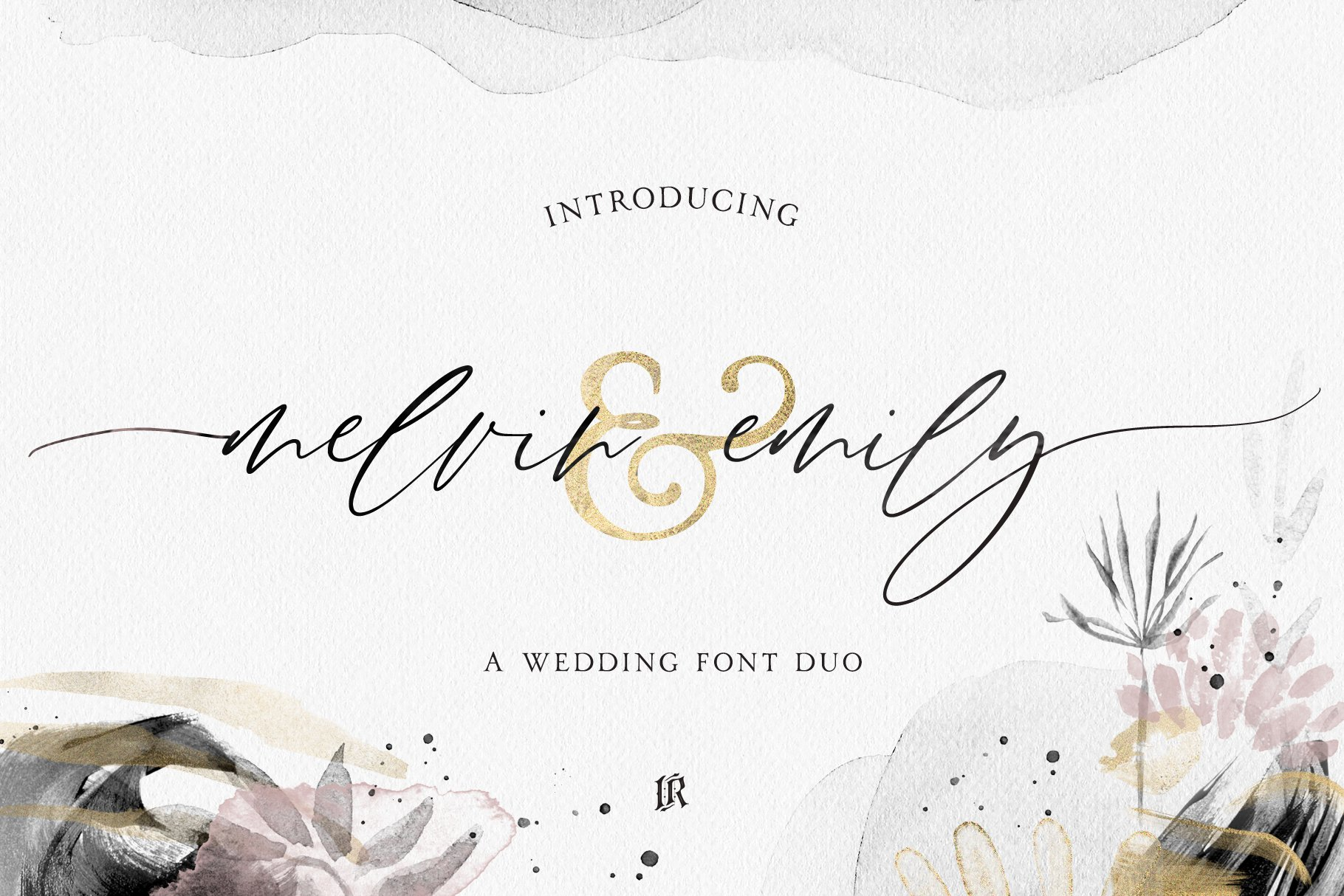 Melvin And Emily Font Duo Script Fonts Creative Market