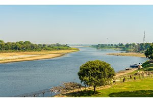 The Yamuna river as seen from Taj Mahal. Agra, India